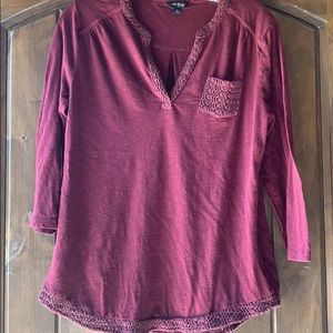 Lucky brand Henley style shirt large